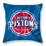 Detroit Pistons Throw Pillow