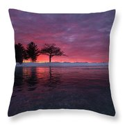 Detroit Point Sunset Off The Ice Throw Pillow