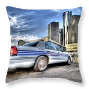 Detroit Police Throw Pillow