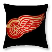 Detroit Red Wings - Scrolled Throw Pillow