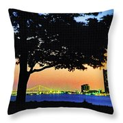 Detroit River View Throw Pillow