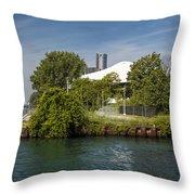 Detroit Riverfront 1 Throw Pillow