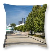 Detroit Riverfront 2 Throw Pillow