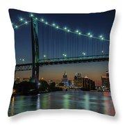 Detroit Riverside Sparkle Throw Pillow