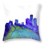 Detroit Skyline 3 Throw Pillow
