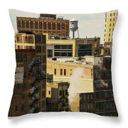 Detroit Steam City Throw Pillow