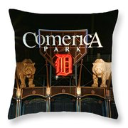 Detroit Tigers - Comerica Park Throw Pillow