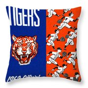 Detroit Tigers 1962 Yearbook Throw Pillow