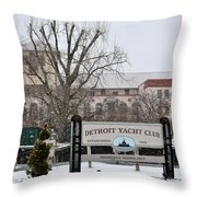 Detroit Yacht Club Throw Pillow