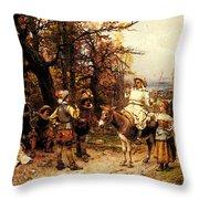 Detti Cesare Auguste A Halt Along The Way Throw Pillow
