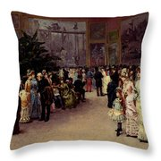 Detti Cesare Auguste Varnishing Day Throw Pillow