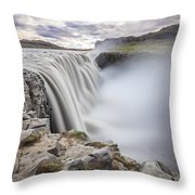 Dettifoss Throw Pillow