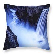 Dettifoss Throw Pillow