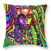 Devel In Me Throw Pillow