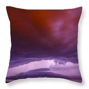 Developing Nebraska Night Shelf Cloud 003 Throw Pillow