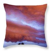 Developing Nebraska Night Shelf Cloud 011 Throw Pillow
