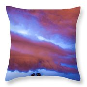 Developing Nebraska Night Shelf Cloud 012 Throw Pillow