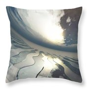 Deviating World Throw Pillow