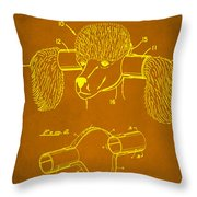 Device For Protecting Animal Ears Patent Drawing 1c Throw Pillow