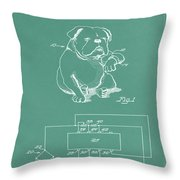 Device For Protecting Animal Ears Patent Drawing 1d Throw Pillow