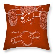 Device For Protecting Animal Ears Patent Drawing 1h Throw Pillow