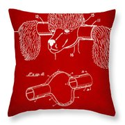 Device For Protecting Animal Ears Patent Drawing 1k Throw Pillow