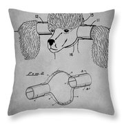 Device For Protecting Animal Ears Patent Drawing 1l Throw Pillow