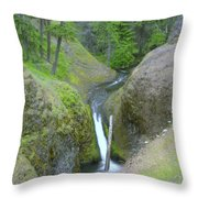 Devil Creek Falls   Throw Pillow