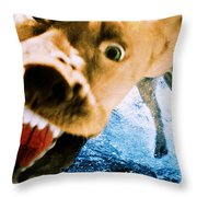 Devil Dog Underwater Throw Pillow