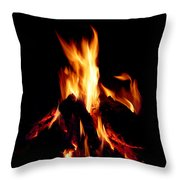 Devil Fire Throw Pillow