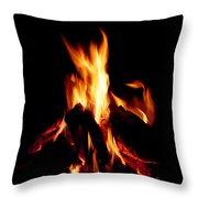 Devil Fire Throw Pillow