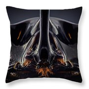 Devil Horn Focus Stack Throw Pillow