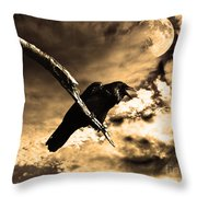 Devil In The Clouds Throw Pillow