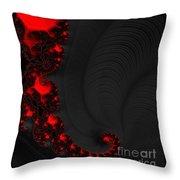 Devil Light 2   A Fractal Abstract Throw Pillow