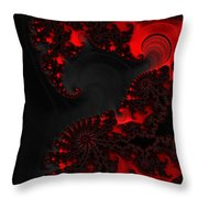Devil Light   A Fractal Abstract Throw Pillow