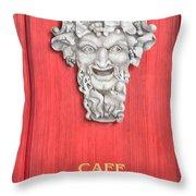 Devil Sculpture Throw Pillow