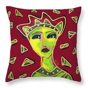 Devil Woman Throw Pillow