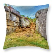 Devils Den Gettysburg Throw Pillow