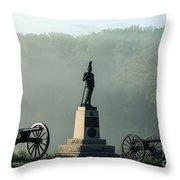 Devil's Den Monument At Gettysburg Throw Pillow by John Greim
