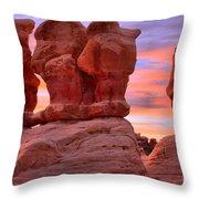 Devils Garden Pink Sunset Throw Pillow