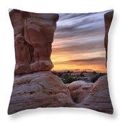 Devils Garden Sunset Throw Pillow