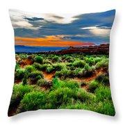 Devil's Garden Trail Throw Pillow