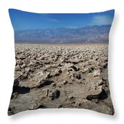Devil's Golf Course Throw Pillow