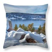 Devils Lake Throw Pillow