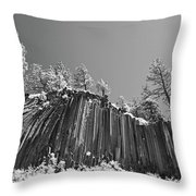 Devil's Postpile - Frozen Columns Of Lava Throw Pillow by Christine Till