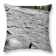 Devils Postpile - Nature And Science Throw Pillow by Christine Till