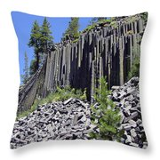 Devil's Postpile - Nature's Masterpiece Throw Pillow