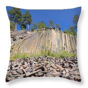 Devils Postpile Wide View Throw Pillow