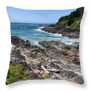 Devils Punch Bowl Throw Pillow