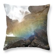 Devil's Rainbow Throw Pillow